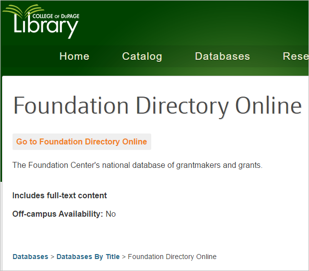 screenshot of the home page for the library