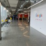 Google hallway with Google sign