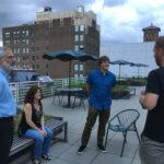 People on a roof patio