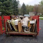 back of pretty full dumpster